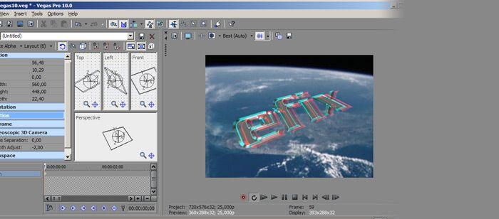 Obróbka 3D w Vegas Pro 10